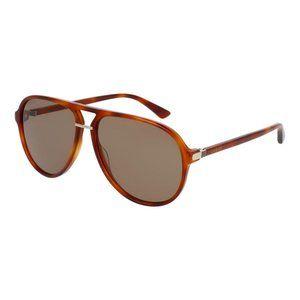 Gucci Men Aviator Sunglasses Brown Lens